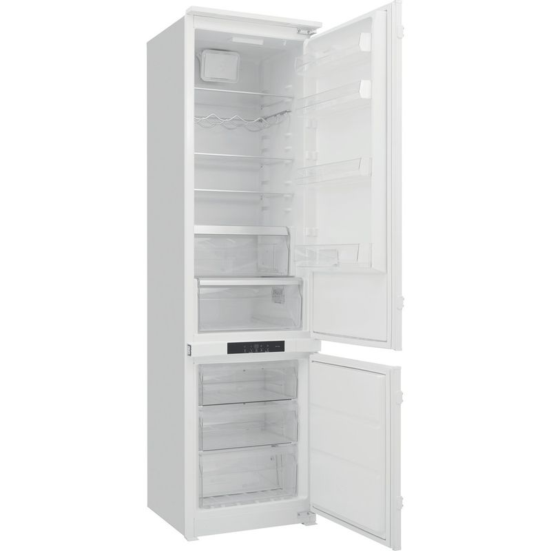Hotpoint-Fridge-Freezer-Built-in-BCB-8020-AA-F-C.1-White-2-doors-Perspective-open