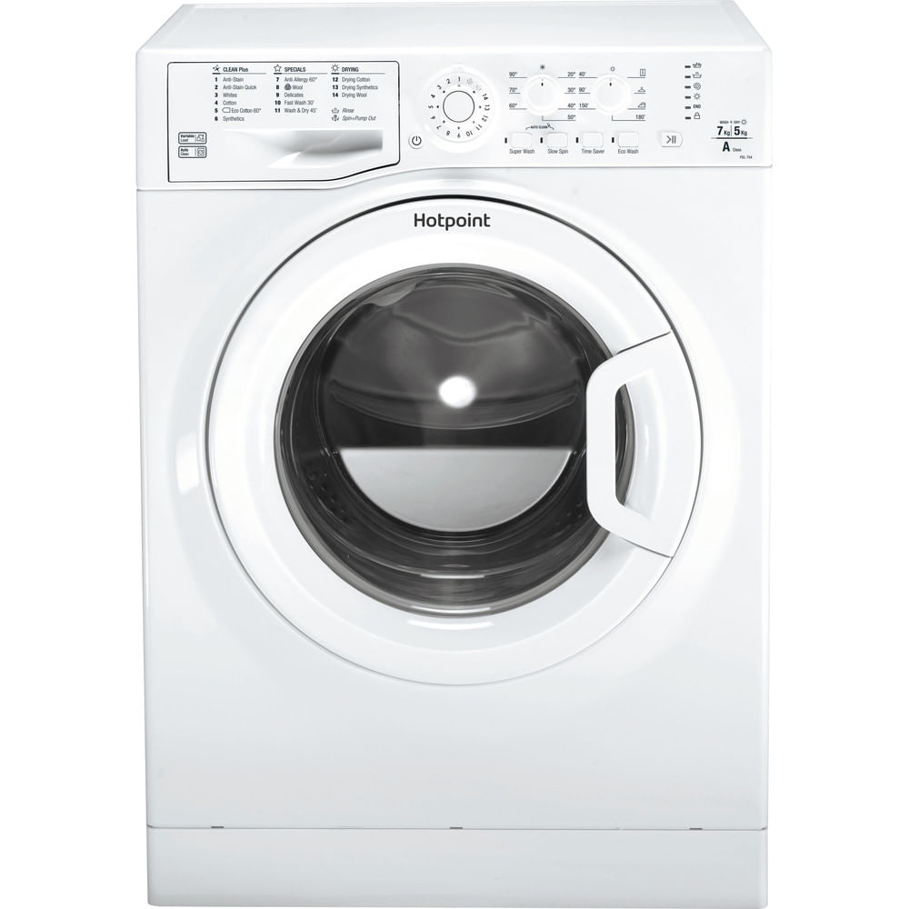 Hotpoint Freestanding Washer Dryer FDL 754 P UK : discover the specifications of our home appliances and bring the innovation into your house and family.