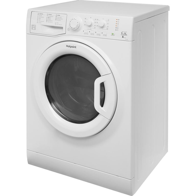 Hotpoint-Washer-dryer-Free-standing-FDL-754-P-UK-White-Front-loader-Perspective