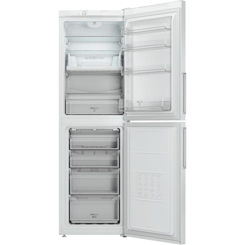 Hotpoint-Fridge-Freezer-Free-standing-LEX85-N1-W.1-White-2-doors-Frontal-open
