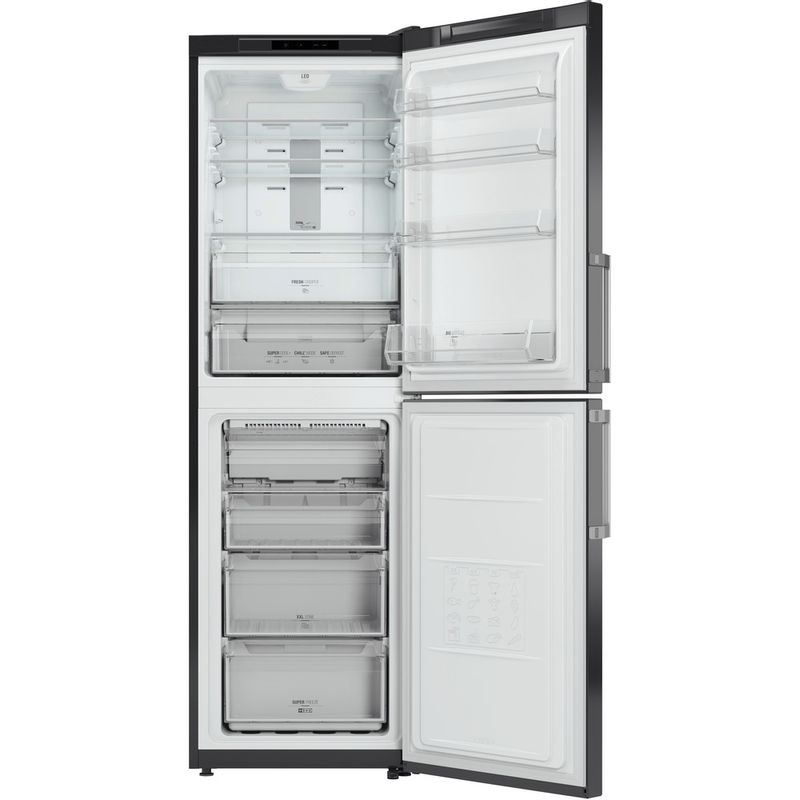 Hotpoint-Fridge-Freezer-Free-standing-XECO85-T2I-GH.1-Graphite-2-doors-Frontal_Open