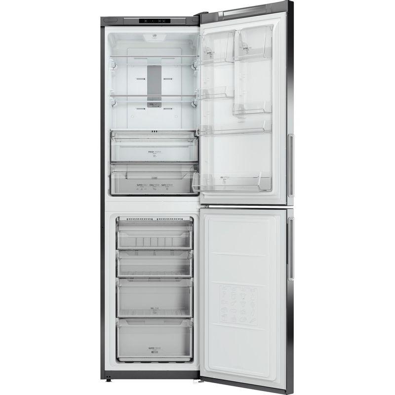 Hotpoint-Fridge-Freezer-Free-standing-XECO95-T2I-GH.1-Graphite-2-doors-Frontal_Open