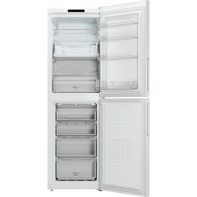 Hotpoint-Fridge-Freezer-Free-standing-LAO85-FF1I-W.1-White-2-doors-Frontal-open