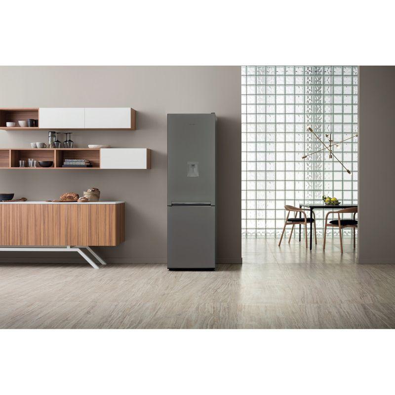 Hotpoint-Fridge-Freezer-Free-standing-H8-A1E-SB-WTD-UK.1-Silver-Black-2-doors-Lifestyle-frontal