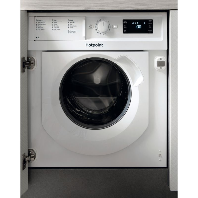Hotpoint-Washing-machine-Built-in-BI-WMHG-71284-UK-White-Front-loader-A----Frontal