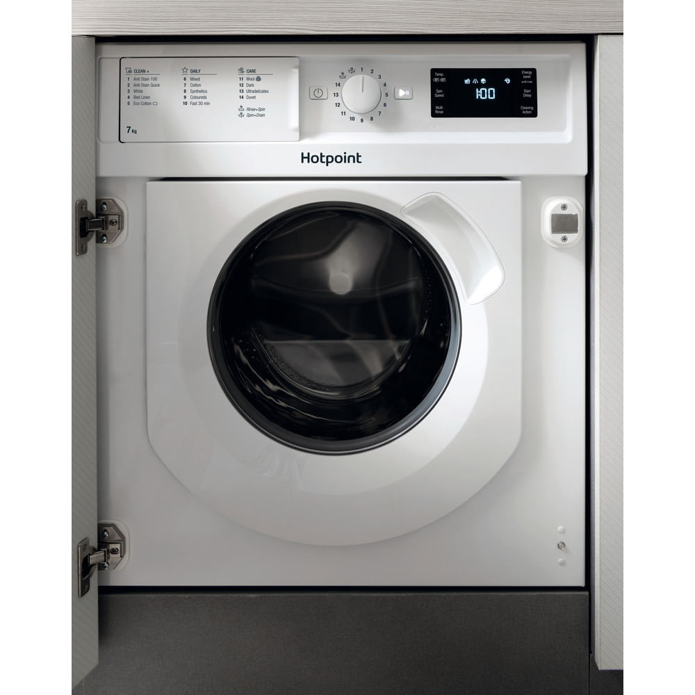 Hotpoint Integrated Washing Machine BI WMHG 71284 UK : discover the specifications of our home appliances and bring the innovation into your house and family.