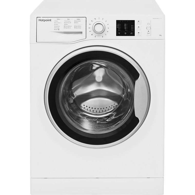 Hotpoint-Washing-machine-Free-standing-NM10-944-WS-UK-White-Front-loader-A----Frontal