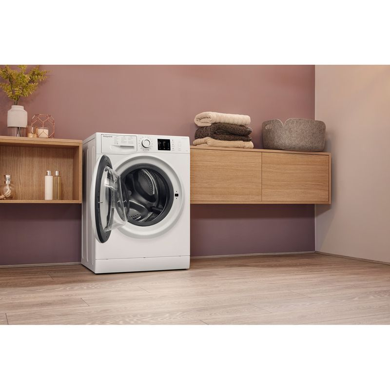 Hotpoint-Washing-machine-Free-standing-NM10-944-WS-UK-White-Front-loader-A----Lifestyle-perspective-open