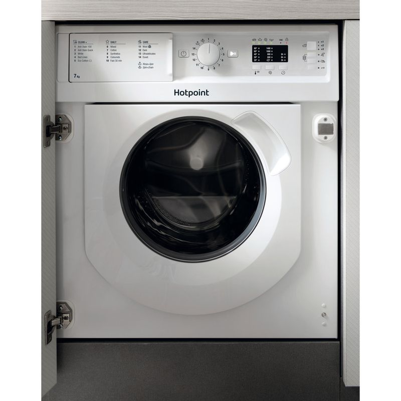 Hotpoint-Washing-machine-Built-in-BI-WMHL-71453-UK-White-Front-loader-A----Frontal