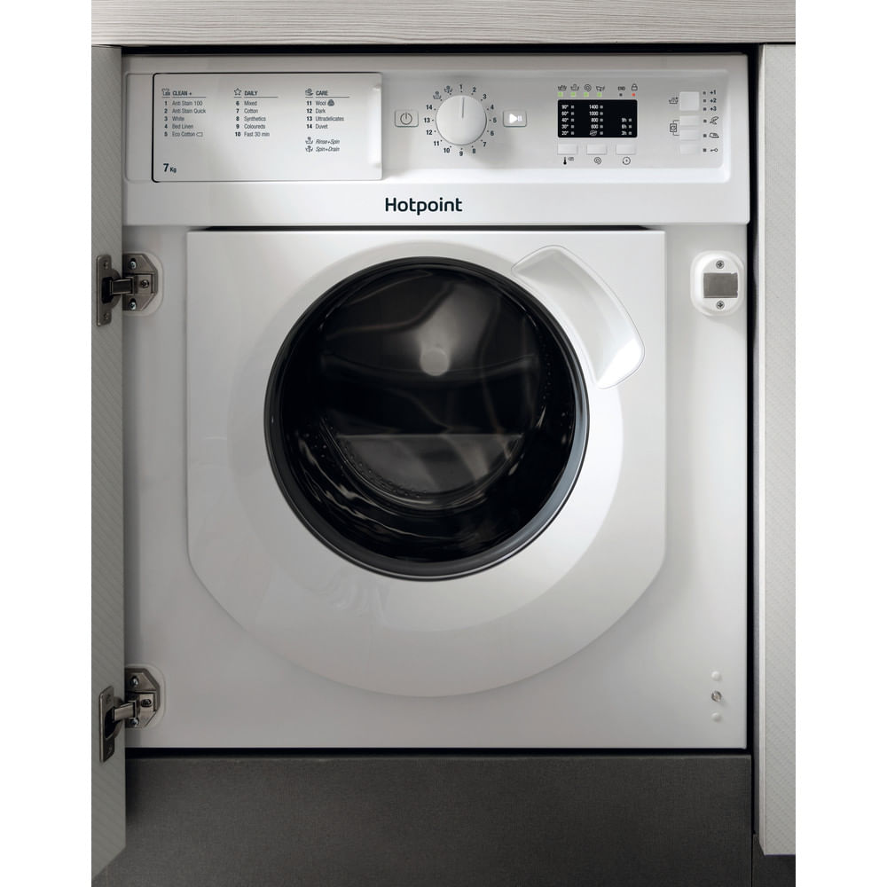 Hotpoint Integrated Washing Machine BI WMHL 71453 UK : discover the specifications of our home appliances and bring the innovation into your house and family.