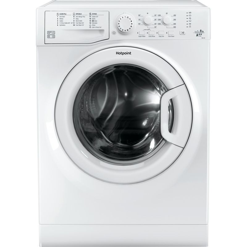 Hotpoint-Washing-machine-Free-standing-FML-842-P-UK-White-Front-loader-A---Frontal