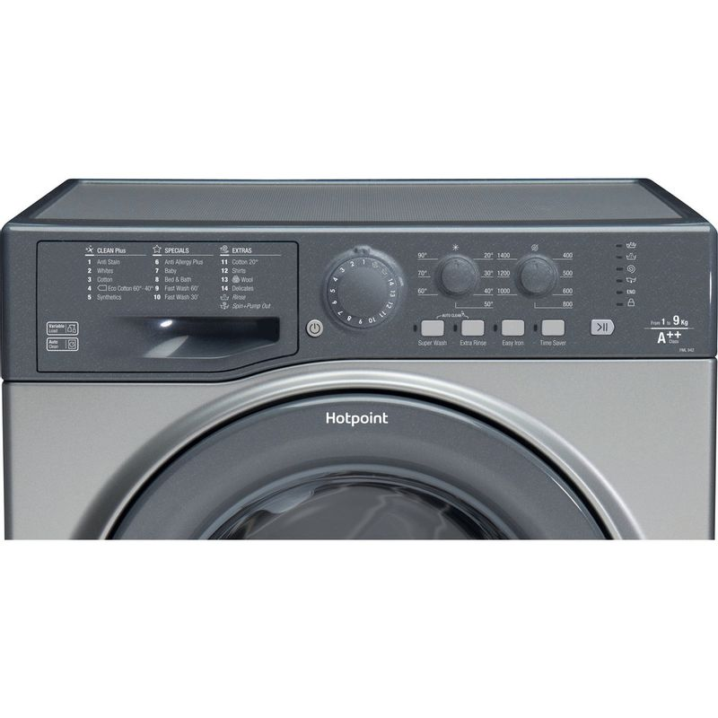 Hotpoint-Washing-machine-Free-standing-FML-942-G-UK-Graphite-Front-loader-A---Control_Panel