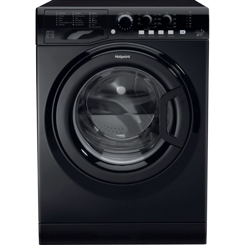 Hotpoint-Washing-machine-Free-standing-FML-742-K-UK-Black-Front-loader-A---Frontal