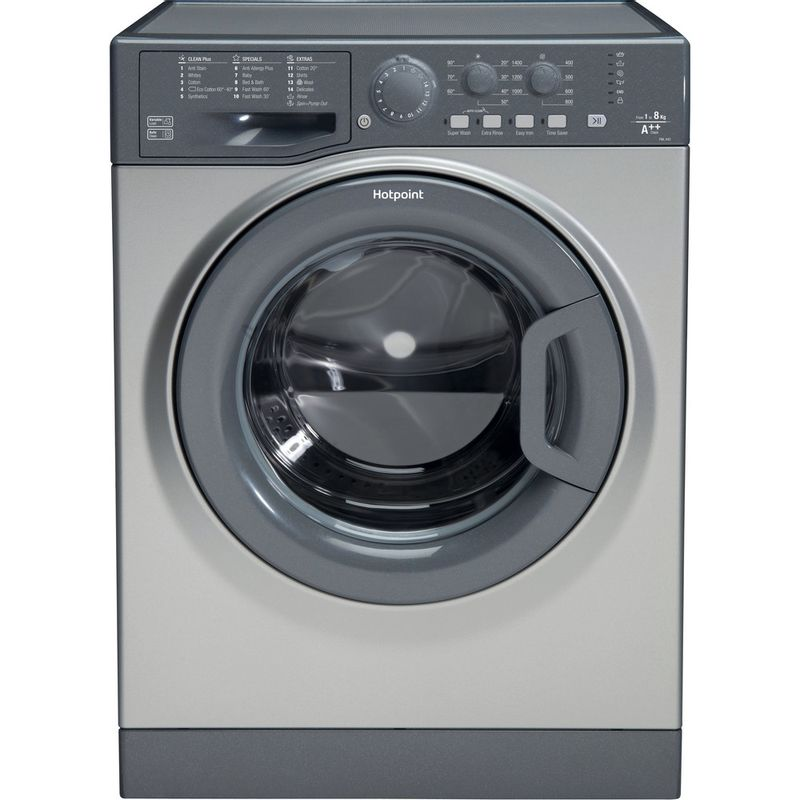 Hotpoint-Washing-machine-Free-standing-FML-842-G-UK-Graphite-Front-loader-A---Frontal
