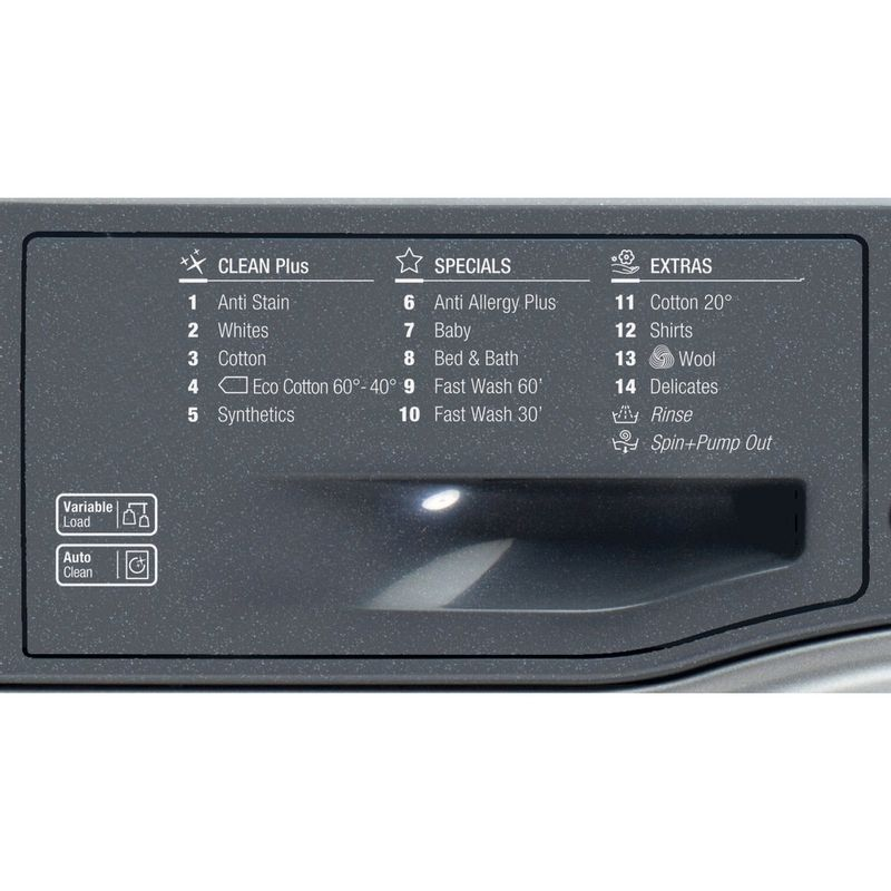 Hotpoint-Washing-machine-Free-standing-FML-842-G-UK-Graphite-Front-loader-A---Program