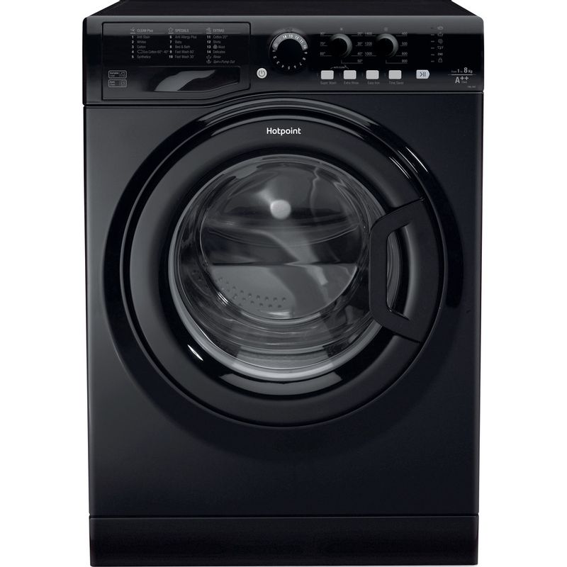 Hotpoint-Washing-machine-Free-standing-FML-842-K-UK-Black-Front-loader-A---Frontal
