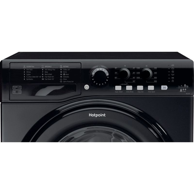 Hotpoint-Washing-machine-Free-standing-FML-842-K-UK-Black-Front-loader-A---Control_Panel