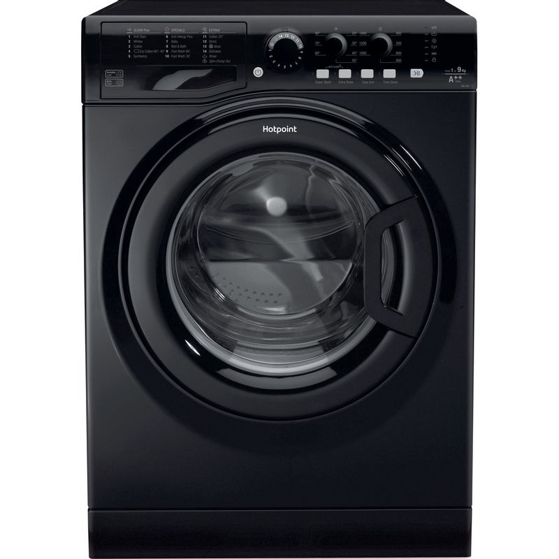 Hotpoint-Washing-machine-Free-standing-FML-942-K-UK-Black-Front-loader-A---Frontal