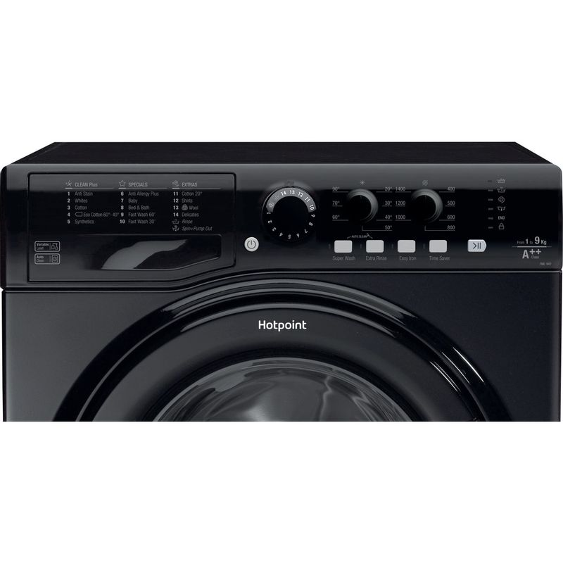 Hotpoint-Washing-machine-Free-standing-FML-942-K-UK-Black-Front-loader-A---Control_Panel