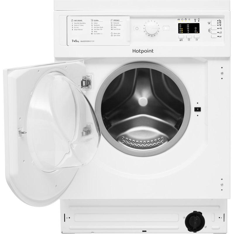 Hotpoint-Washer-dryer-Built-in-BI-WDHL-7128-UK-White-Front-loader-Frontal-open