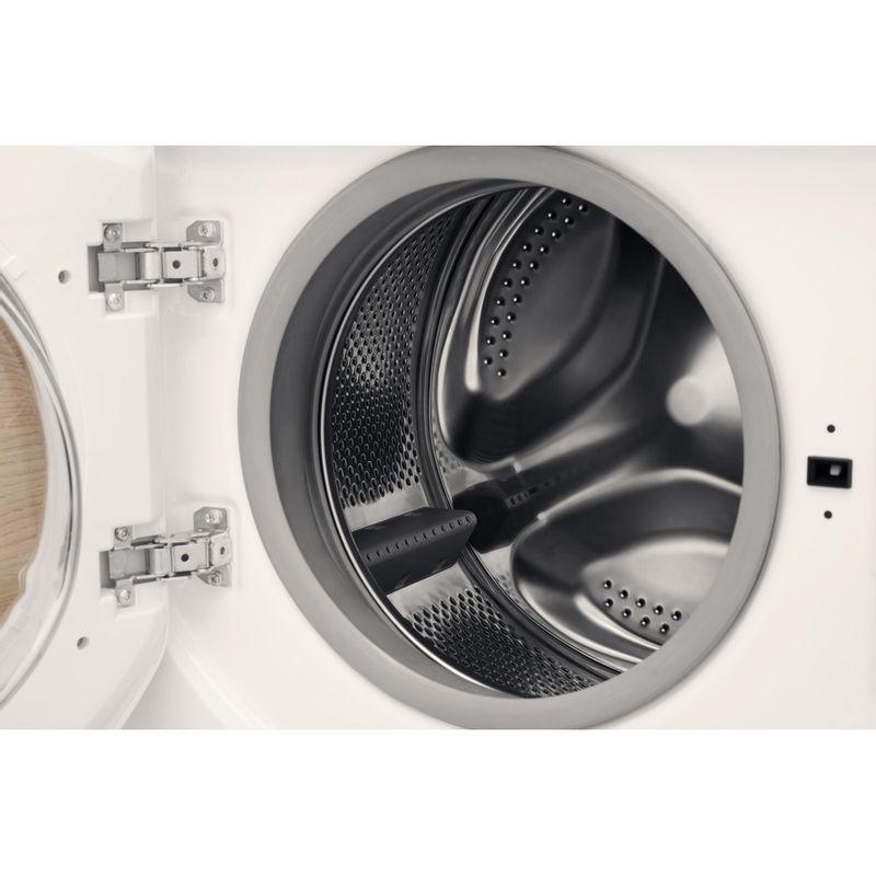 Hotpoint-Washer-dryer-Built-in-BI-WDHL-7128-UK-White-Front-loader-Drum