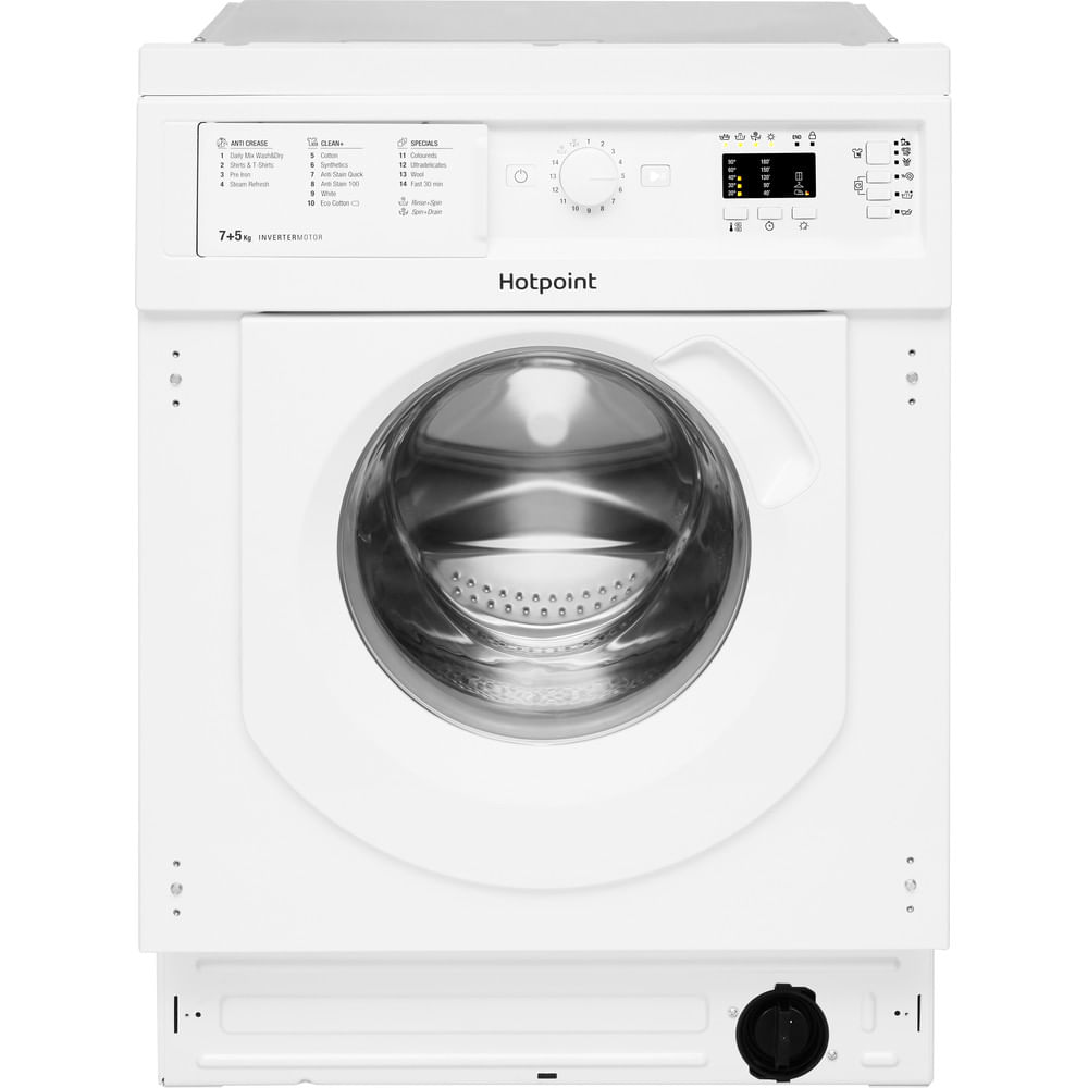Hotpoint Integrated Washer Dryer BI WDHG 7148 UK : discover the specifications of our home appliances and bring the innovation into your house and family.