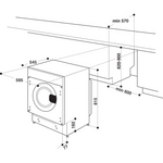 Hotpoint-Washer-dryer-Built-in-BI-WDHG-7148-UK-White-Front-loader-Technical-drawing