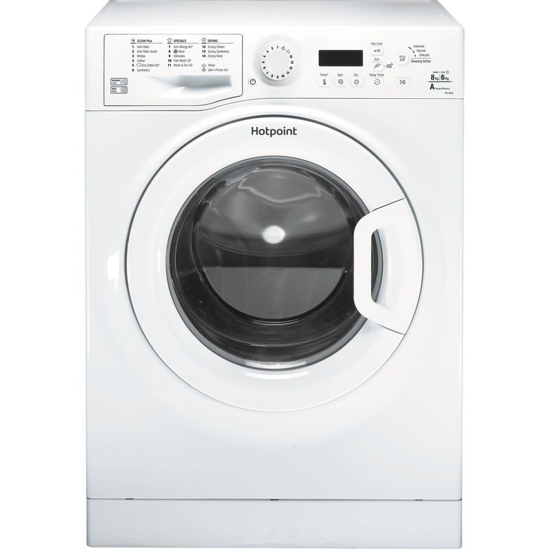 Hotpoint-Washer-dryer-Free-standing-FDL-8640P-UK-White-Front-loader-Frontal