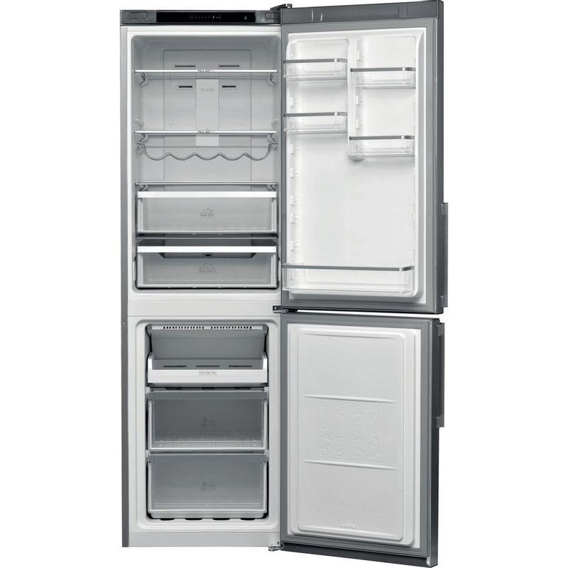 Hotpoint-Fridge-Freezer-Free-standing-H5T-811I-MX-H-Mirror-Inox-2-doors-Frontal-open
