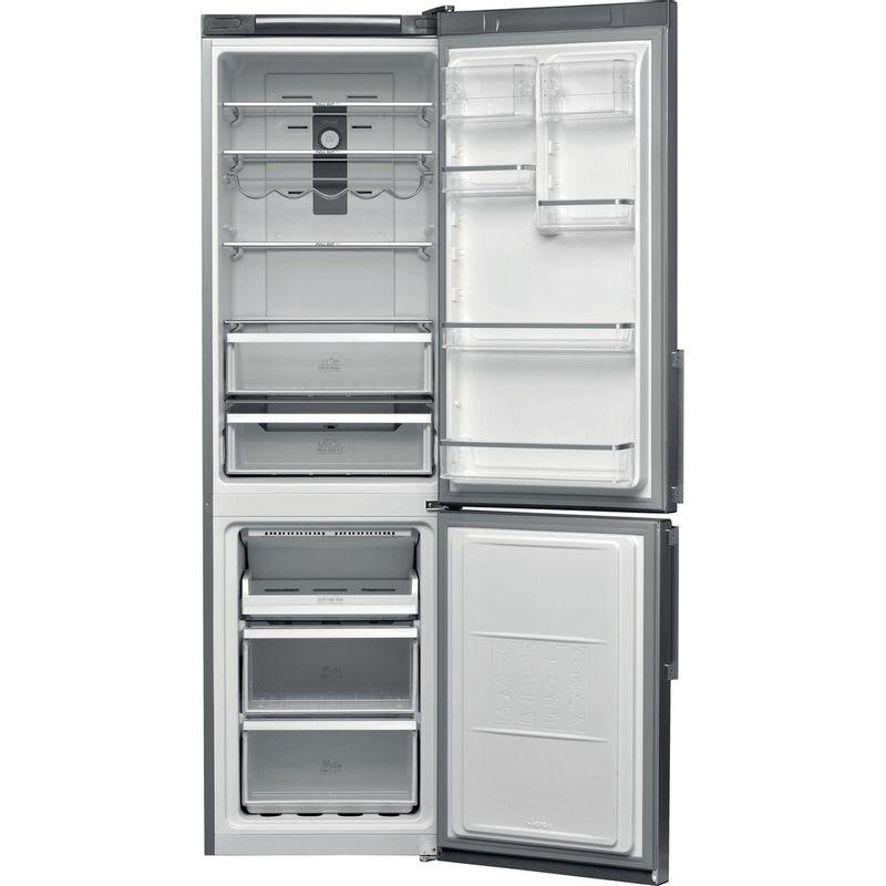 Hotpoint-Fridge-Freezer-Free-standing-H7T-911T-MX-H-Mirror-Inox-2-doors-Frontal-open