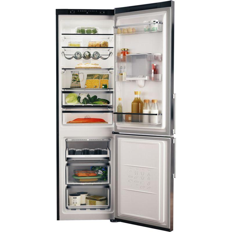 Hotpoint-Fridge-Freezer-Free-standing-H7T-911A-MX-H-AQUA-Mirror-Inox-2-doors-Frontal-open