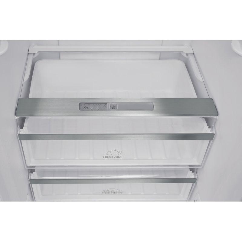 Hotpoint-Fridge-Freezer-Free-standing-H7T-911A-MX-H-AQUA-Mirror-Inox-2-doors-Drawer