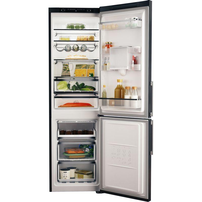 Hotpoint-Fridge-Freezer-Free-standing-H7T-911A-KS-H-AQUA-Black-Inox-2-doors-Frontal_Open