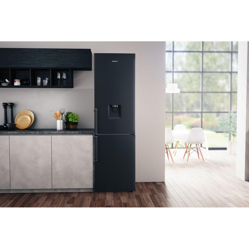 Hotpoint-Fridge-Freezer-Free-standing-H7T-911A-KS-H-AQUA-Black-Inox-2-doors-Lifestyle_Frontal