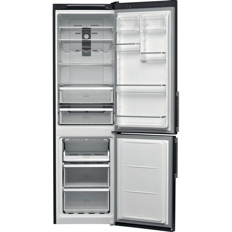 Hotpoint-Fridge-Freezer-Free-standing-H9T-921T-KS-H-Black-Inox-2-doors-Frontal-open