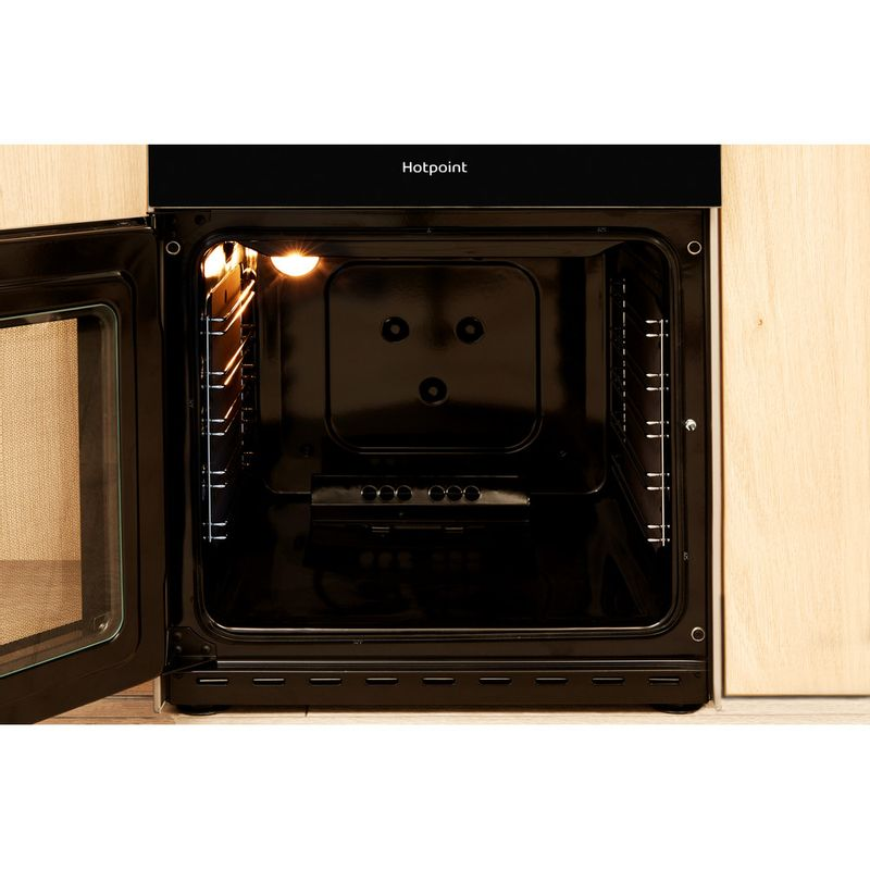 Hotpoint-Double-Cooker-HD5G00CCSS-UK-Silver-A--Enamelled-Sheetmetal-Cavity