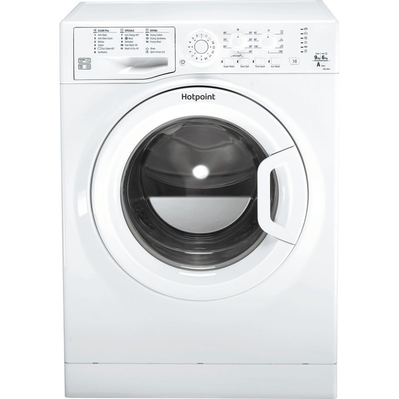 Hotpoint-Washer-dryer-Free-standing-FDEU-9640-P-UK-White-Front-loader-Frontal