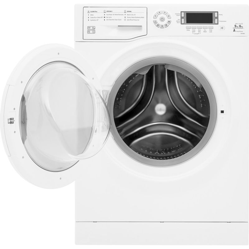 Hotpoint-Washer-dryer-Free-standing-FDEU-9640-P-UK-White-Front-loader-Frontal-open