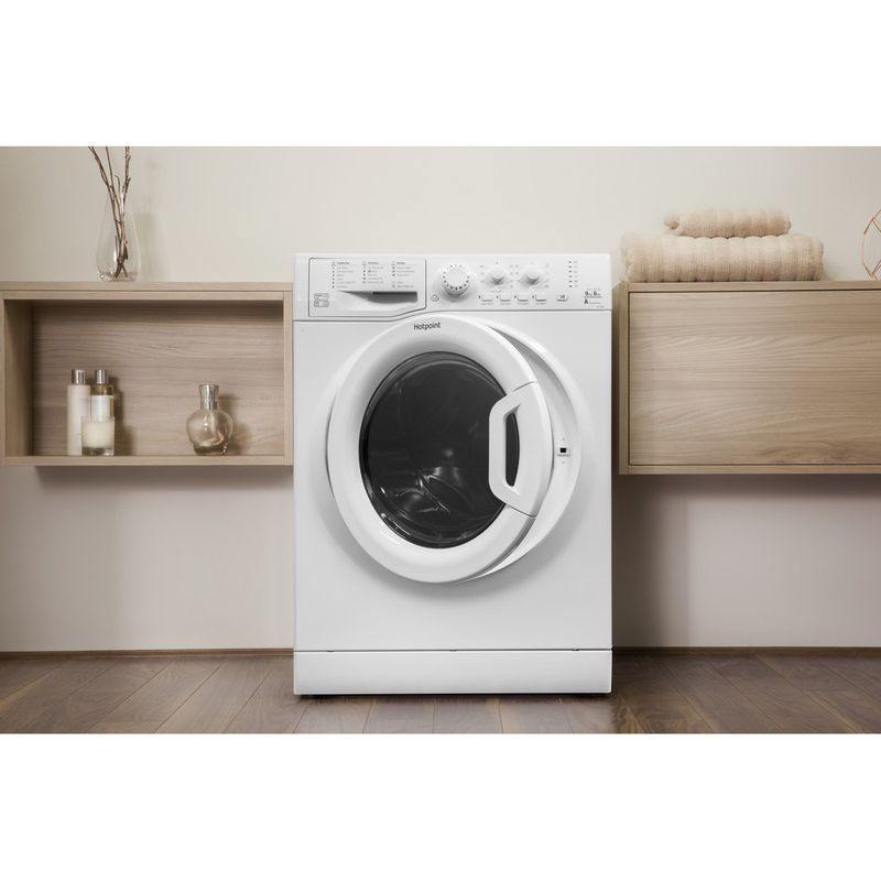 Hotpoint-Washer-dryer-Free-standing-FDEU-9640-P-UK-White-Front-loader-Lifestyle-frontal-open
