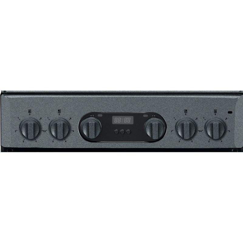 Hotpoint-Double-Cooker-HD5V93CCSS-UK-Silver-A-Vitroceramic-Control-panel