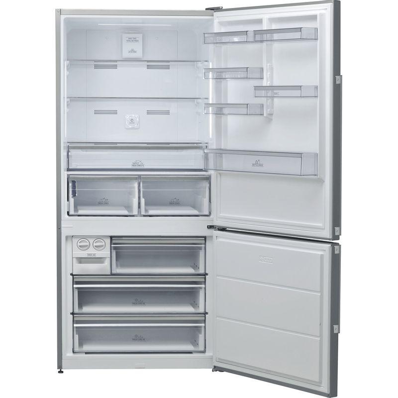 Hotpoint-Fridge-Freezer-Free-standing-H84BE-72-XO3-UK-Inox-2-doors-Frontal-open