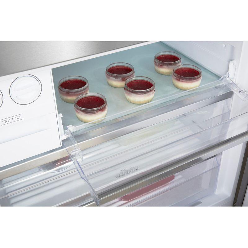 Hotpoint-Fridge-Freezer-Free-standing-H84BE-72-XO3-UK-Inox-2-doors-Drawer