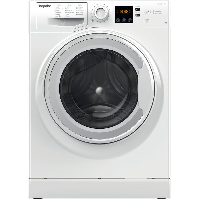 Hotpoint-Washing-machine-Free-standing-NSWR-1063C-WK-UK-White-Front-loader-A----Frontal