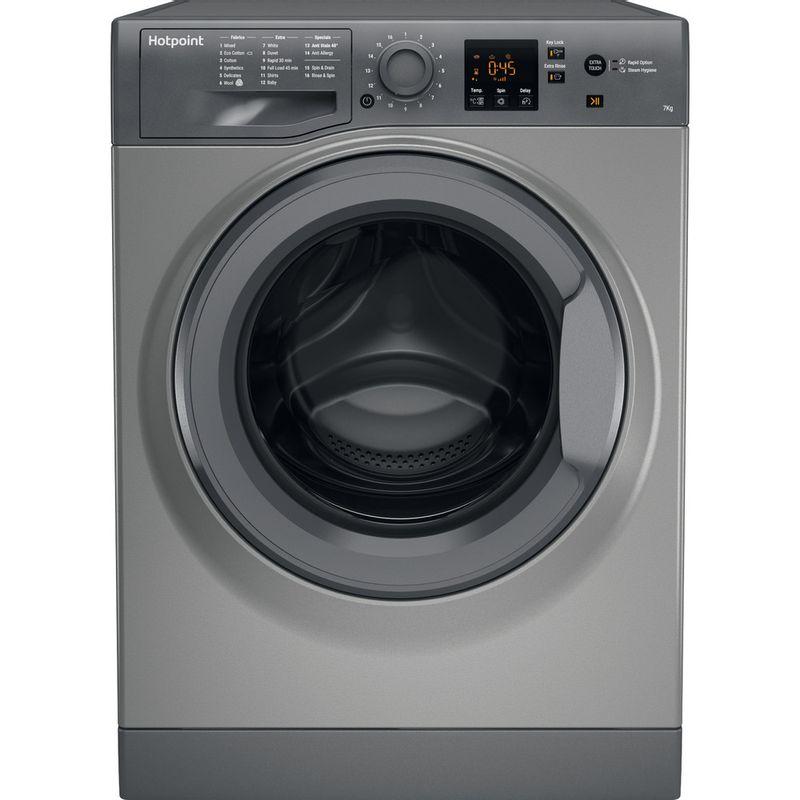 Hotpoint-Washing-machine-Free-standing-NSWR-743U-GK-UK-Graphite-Front-loader-A----Frontal