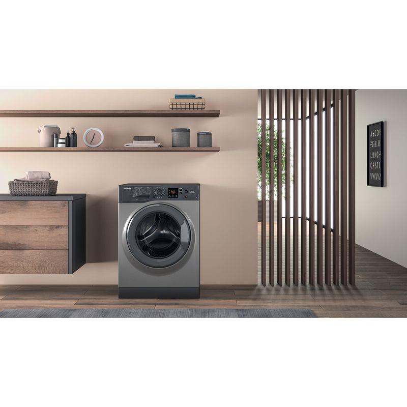 Hotpoint-Washing-machine-Free-standing-NSWR-743U-GK-UK-Graphite-Front-loader-A----Lifestyle-frontal