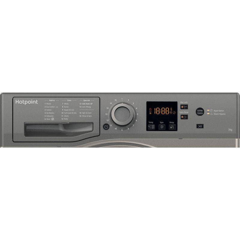 Hotpoint-Washing-machine-Free-standing-NSWR-743U-GK-UK-Graphite-Front-loader-A----Control-panel