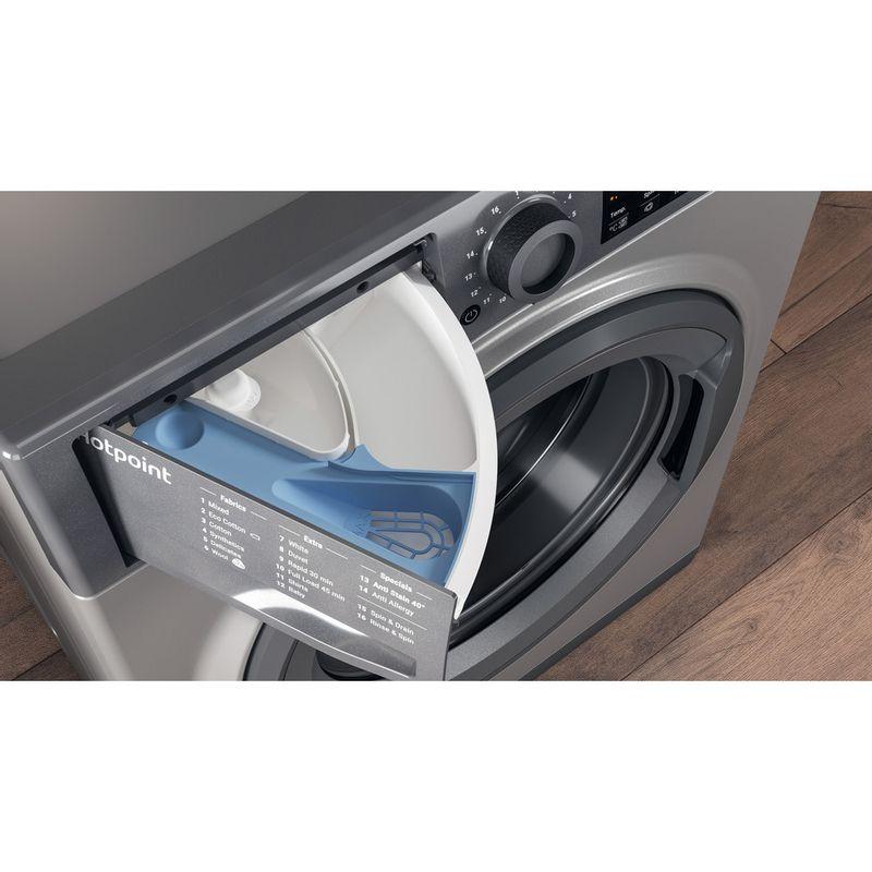 Hotpoint-Washing-machine-Free-standing-NSWR-743U-GK-UK-Graphite-Front-loader-A----Drawer