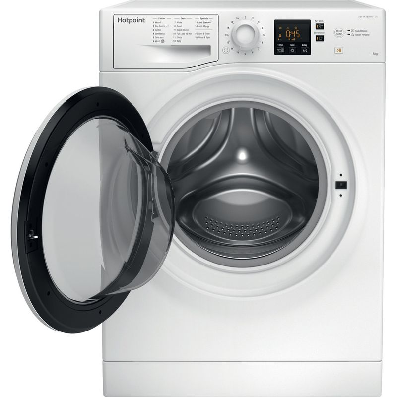 Hotpoint-Washing-machine-Free-standing-NSWR-843C-WK-UK-White-Front-loader-A----Frontal-open