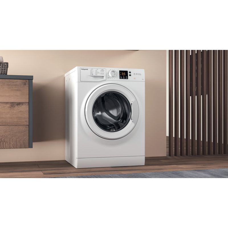 Hotpoint-Washing-machine-Free-standing-NSWR-843C-WK-UK-White-Front-loader-A----Lifestyle-perspective