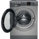 Hotpoint-Washing-machine-Free-standing-NSWR-843C-GK-UK-Graphite-Front-loader-A----Frontal_Open